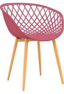 Cadeira De Jantar Clarice Estofada Cereja