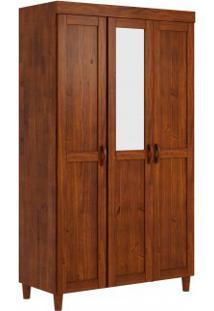 Guarda Roupa Liso Finestra Ecco 03 Portas E 02 Gavetas C/01 Espelho Imbuia