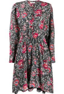 Isabel Marant Étoile Vestido Yandra Com Estampa Floral - Preto