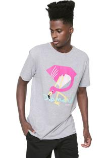 Camiseta Diamond Supply Co Flamingo Cinza