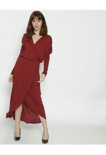 Vestido MãDi Com Transpasse- Bordã´- Colccicolcci
