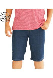 Bermuda Masculina Plus Size Dazz Ling Jeans Azul
