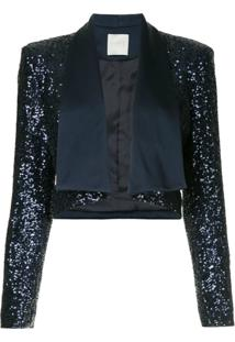 Ingie Paris Sequined Bolero Jacket - Azul