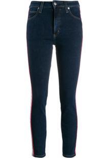 Calvin Klein Jeans Calça Jeans Skinny Cropped - Azul