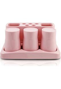 Kit De Banheiro De 5 Peças Jacki Design - Feminino-Rosa