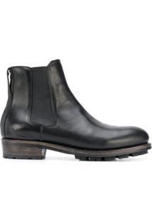 Ajmone Ankle Boot Com Recorte Elástico - Preto
