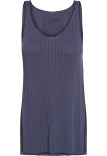 Regata Feminina Rayon Denim - Azul