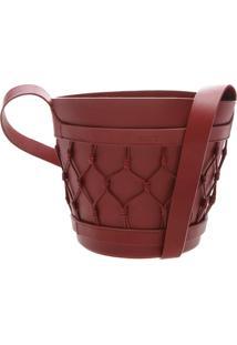 Vase Bag Couro Cabernet | Schutz