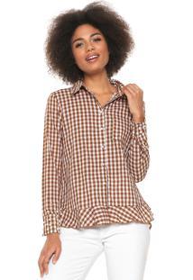 Kanui Camisa Tem Gente Moda Gestante Xadrez. Ir para a loja  Camisa Lily  Fashion Xadrez Vicky Marrom Branca fd6c59821df