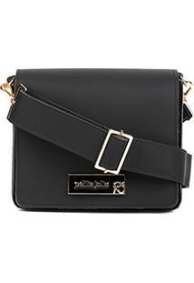 Bolsa Petite Jolie Mini Bag Básica Rose Feminina - Feminino-Preto