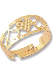 Anel Le Diamond Love Ajustável Dourado