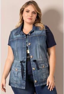 Maxi Colete Jeans Lisamour