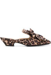 84af5e6e6 R$ 3780,00. Farfetch Sapato Com Salto Baixo Feminino Seda Lã Couro Bico  Fino Marrom Leopardo Animal Print ...