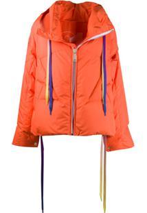 Khrisjoy Zipped Oversized Jacket - Laranja
