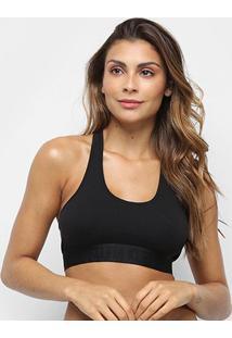 Sutiã Calvin Klein Top Racerback Black Cotton - Feminino-Preto