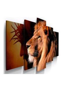 Quadro Decorativo Jesus Cristo Leao Juda Coroa Espinho Deus