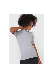 Blusa Facinelli By Mooncity Tricot Lisa Cinza
