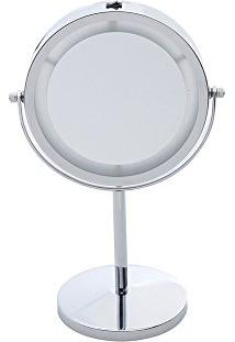 Espelho Duplo Para Banheiro Com Led, Rojemac, Marrom
