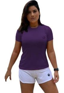 Camiseta Baby Look Performance - Feminino-Roxo