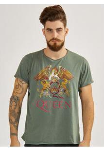 Camiseta Masculina Queen Composition Logo - Masculino-Verde