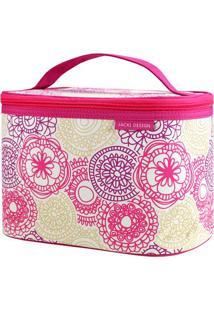 Nécessaire Frasqueira Com Tag- Rosa & Bege- 15X24X16Jacki Design