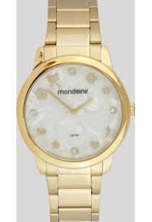 Relógio Analógico Mondaine Feminino - 53685Lpmkde1 Dourado - Único