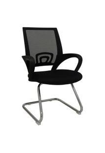 Cadeira Office Santiago Preta Base Fixa Rivatti