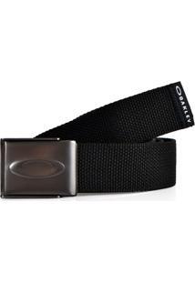Cinto Oakley Ellipse Web Belt Masculino - Masculino-Preto