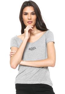 Camiseta Von Dutch Logo Cinza