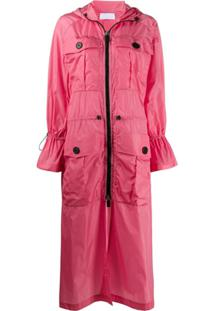 No Ka' Oi Trench Coat Com Zíper - Rosa
