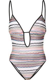 Missoni Mare Fine Knit Swimsuit - Branco