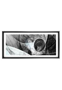 Quadro Com Moldura Chanfrada Abstrato Cinza 50X115