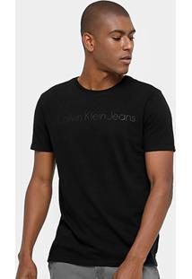 Camiseta Calvin Klein Gola Careca Ck Jeans Masculina - Masculino