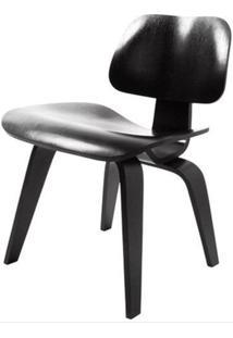 Cadeira Charles Eames Lounge Em Madeira Preta - 47370 Sun House