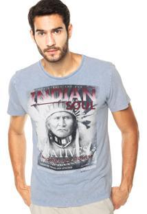 Camiseta Sommer Mini Indian Azul