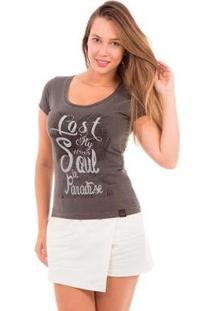 Camiseta Aes 1975 Paradise Feminina - Feminino-Preto