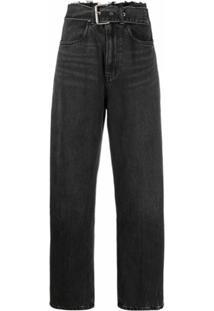 Alexander Wang Calça Jeans Com Ajuste No Cós - Cinza