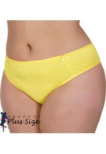 Kit 4 Calcinhas Plus Size Lisa Amarela