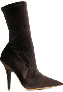 Yeezy Ankle Boot De Couro - Brown