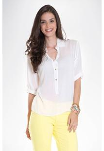 Camisa Lisa Mercatto Off White