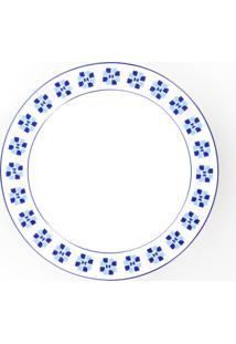 Conjunto De Pratos Fundos Porcelana Schmidt 06 Peças - Dec. Athena