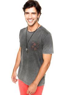 Camiseta Colcci Slim Tie Dye Cinza