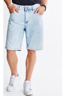 Bermuda Em Jeans Com Listras