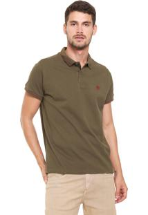 Camisa Polo Timberland Slim Stripes Verde