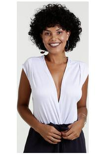 Body Feminino Decote Transpassado Marisa