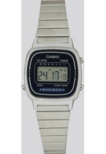 Relógio Digital Casio Feminino - La670Wa2Df Prateado - Único