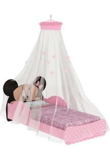 Mini-Cama Minnie Disney C/Dorsel De Teto Rosa E Preto Pura Magia - Tricae
