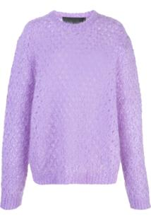Marc Jacobs Long Sleeve Knitted Jumper - Roxo