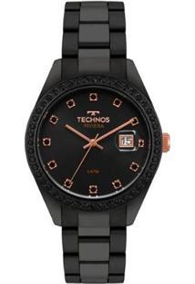 Relógio Technos Feminino Riviera - 2115Moj/4P 2115Moj/4P - Feminino-Preto