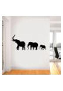 Adesivo De Parede Família De Elefantes Marchando - Es 98X219Cm
